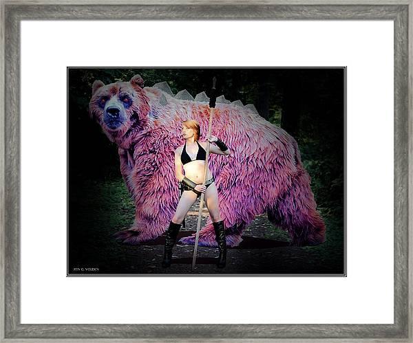 Dire Bear Framed Print