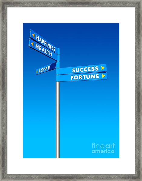 Directions To Goals Framed Print