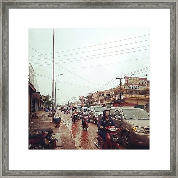 #dirt #love #summer #home #dirtbike Framed Print