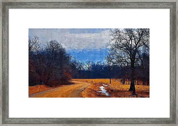 Dirt Road Framed Print
