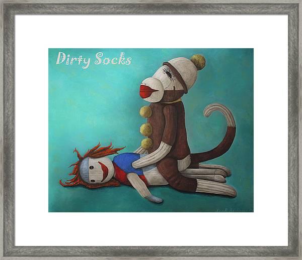 Dirty Socks 4 With Lettering Framed Print