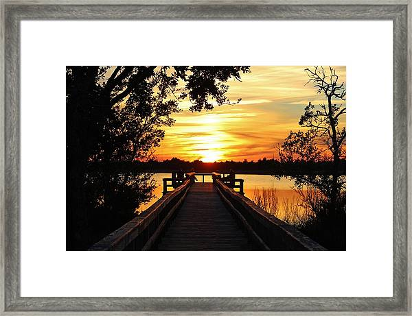 Disappearing Sun  Framed Print