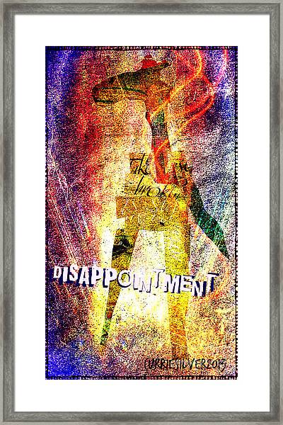 Disappointment Framed Print by Currie Silver