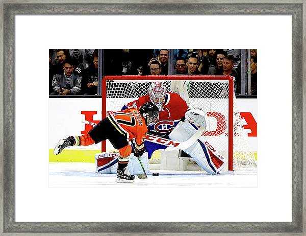 Discover Nhl Shootout Framed Print