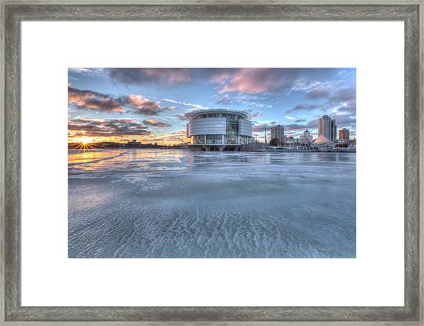 Discovery World On Ice Framed Print