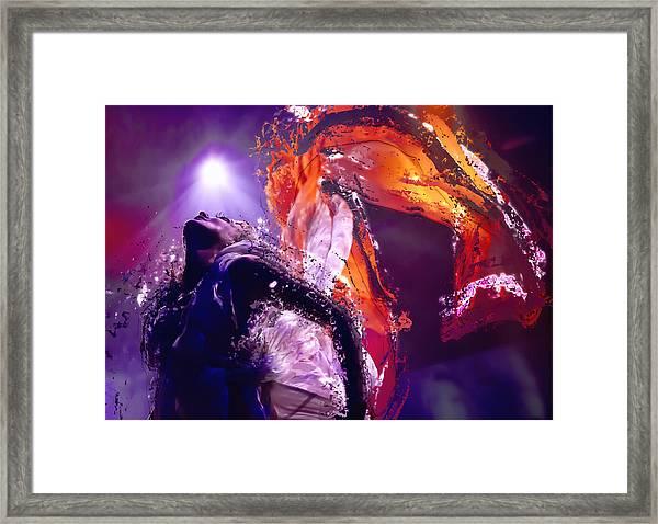 Disintegration In Moonlight Framed Print