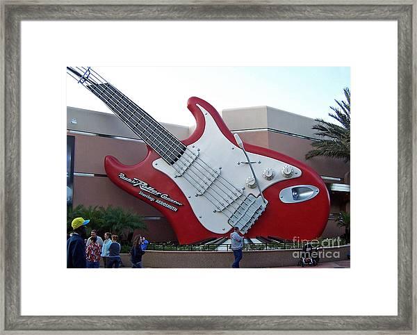 Disney Guitar Framed Print