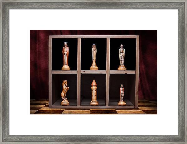Display Of Strength Still Life Chess Framed Print by Tom Mc Nemar