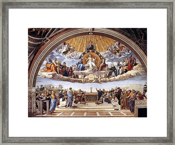 Disputation Of The Eucharist  Framed Print