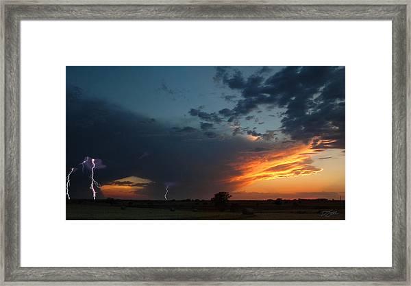 Distant Storm Framed Print