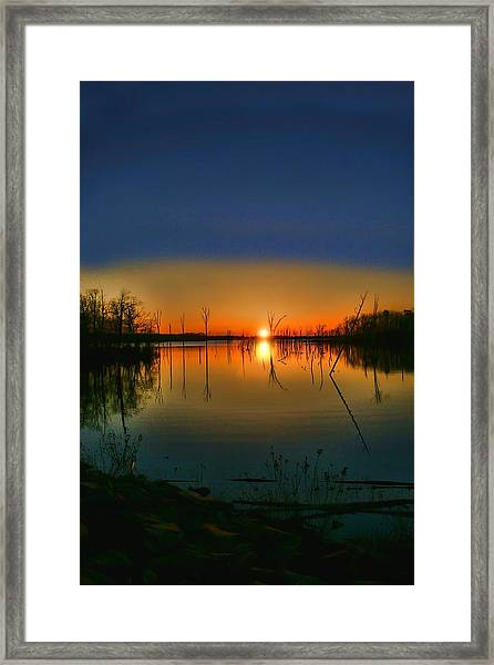 Distant Sunrise Framed Print