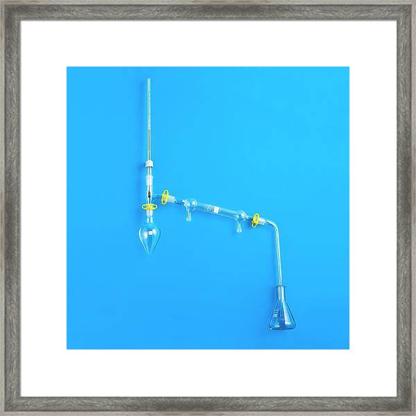 Distillation Apparatus Framed Print by Science Photo Library
