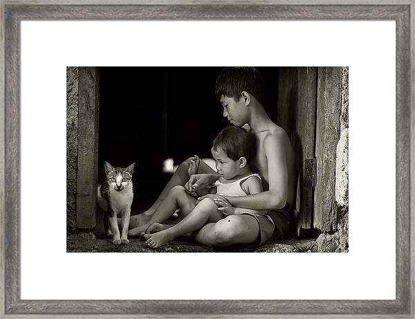 Distraction Framed Print by Raymond Sitanggang