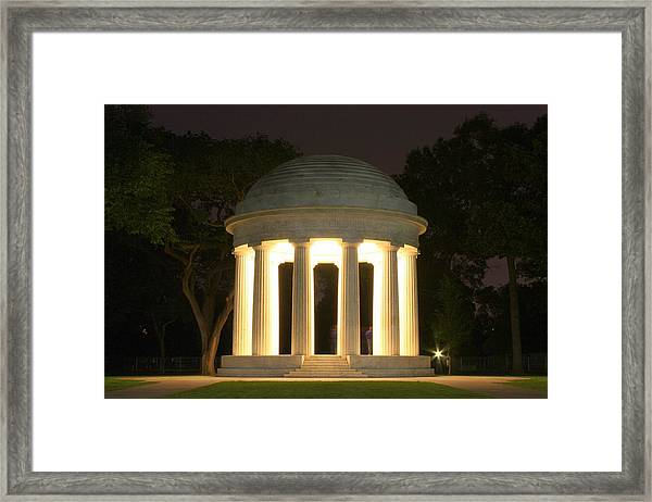 District Of Columbia World War I Memorial At Night Framed Print