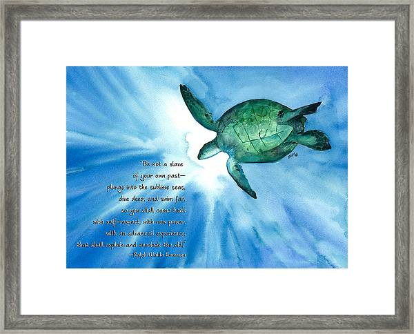 Dive Deep Framed Print