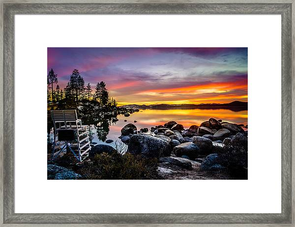 Diver's Cove Lake Tahoe Framed Print