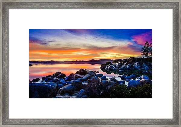 Diver's Cove Lake Tahoe Sunset Framed Print
