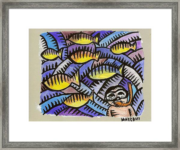 Diving On Saipan  Framed Print