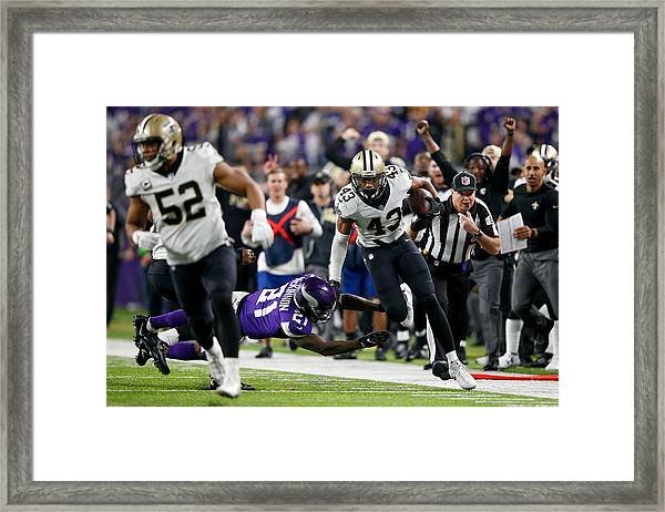 Divisional Round - New Orleans Saints V Minnesota Vikings Framed Print by Jamie Squire