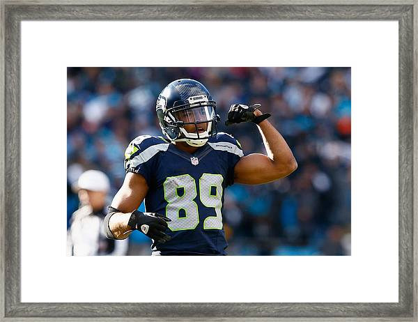 Divisional Round - Seattle Seahawks V Carolina Panthers Framed Print by Jamie Squire