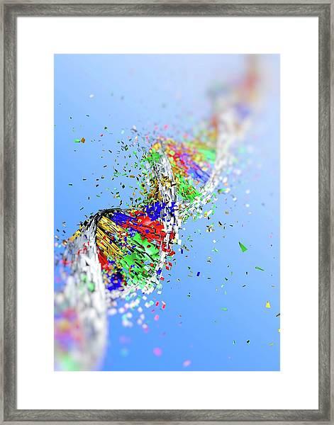 Dna Damage Framed Print