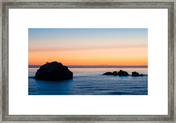 Do You See The Face Framed Print