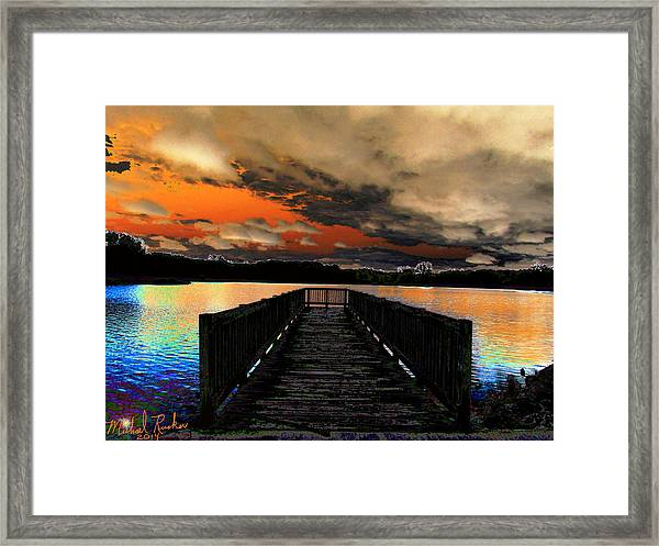 Dock In The Park Framed Print by Michael Rucker