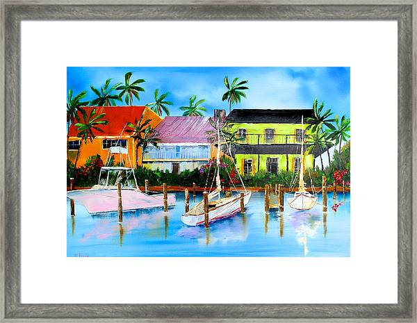 Docked At The House Framed Print