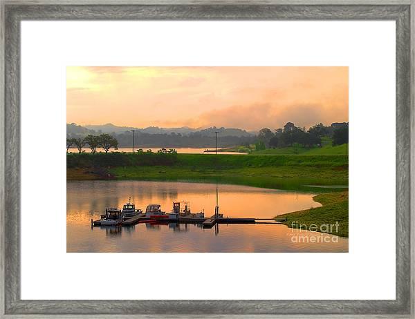 Docked Boats Framed Print