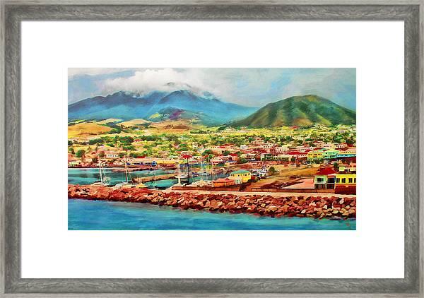 Docked In St. Kitts Framed Print