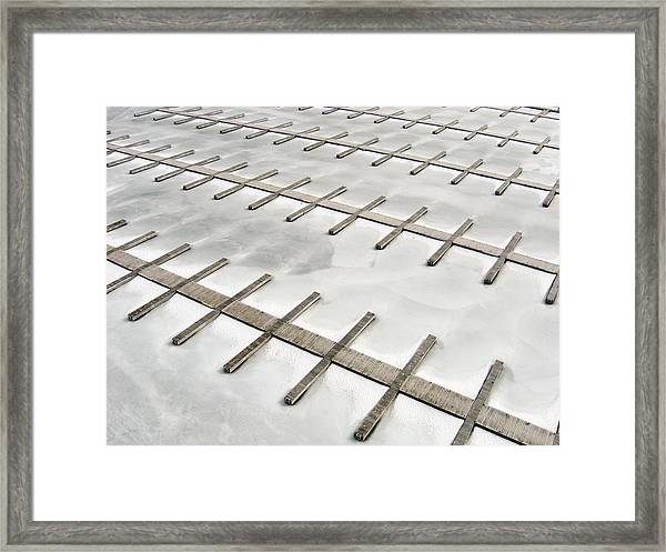 Docks In Winter Framed Print