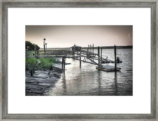 Docks Of The Bull River Framed Print