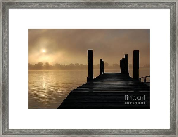 Dockside And A Good Morning Framed Print