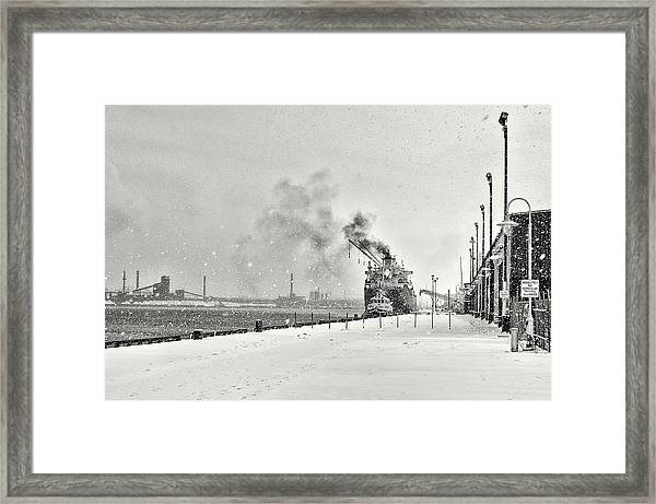 Framed Print featuring the photograph Dockyard by Garvin Hunter