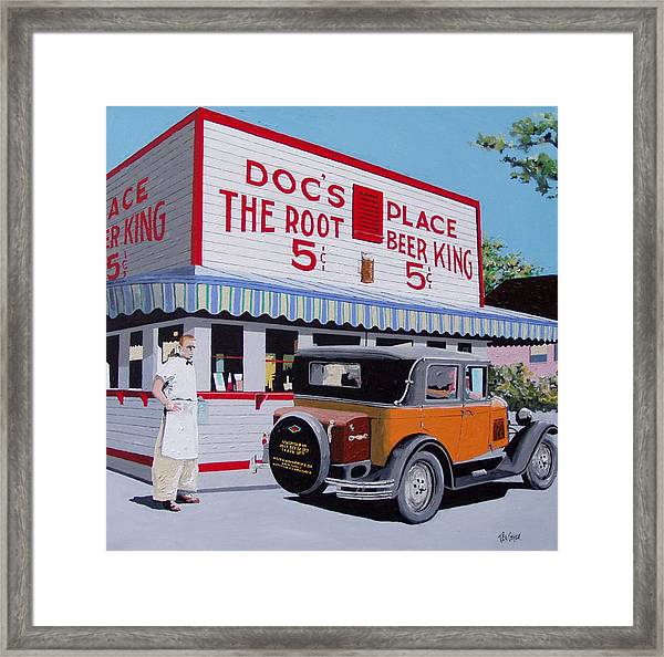 Docs Root Beer East Sacramento Framed Print by Paul Guyer