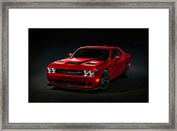 Dodge Challenger S R T Hellcat Framed Print