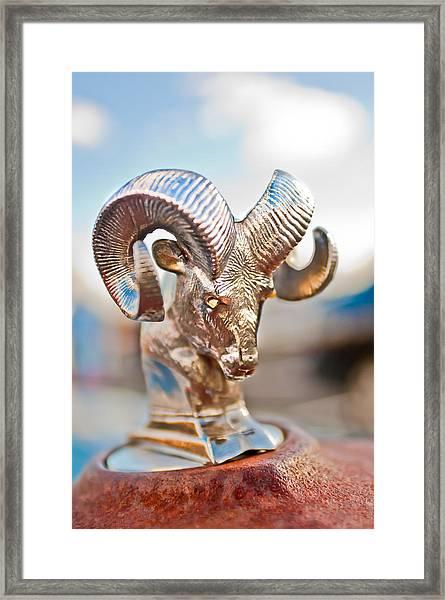 Dodge Ram Hood Ornament 3 Framed Print