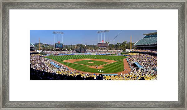 Dodger Stadium Panorama Framed Print