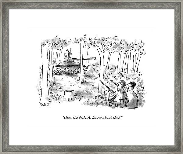 Does The N.r.a. Know About This? Framed Print
