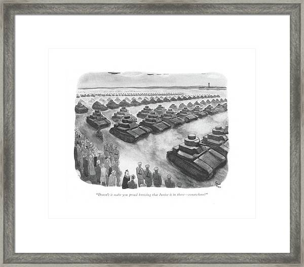 Doesn't It Make You Proud Knowing That Junior Framed Print