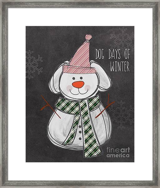 Dog Days  Framed Print