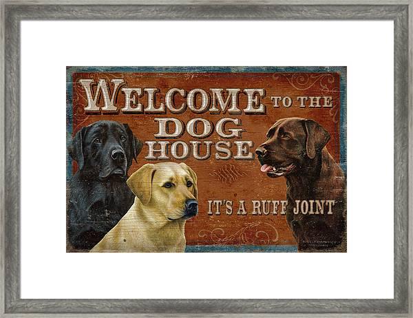Dog House Framed Print