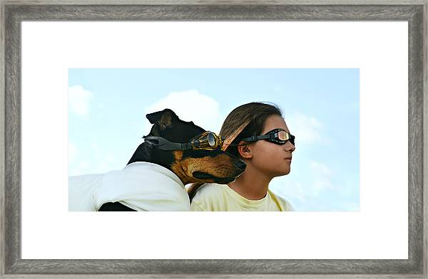 Dog Is My Co-pilot Framed Print