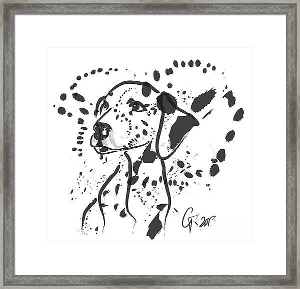 Dog Spot Framed Print