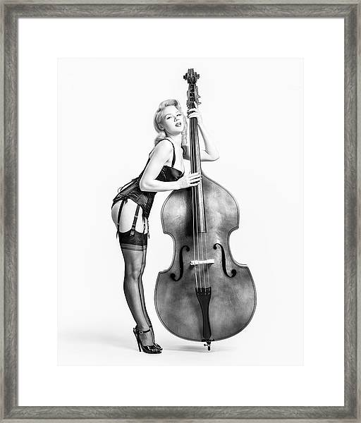 Doghouse With Mosh - String Bass Baby   Framed Print
