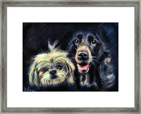 Dogs - Pencil Drawing Framed Print