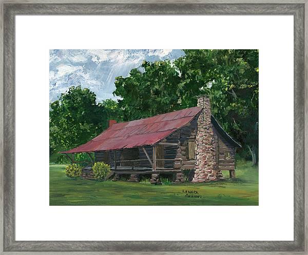 Dogtrot House In Louisiana Framed Print