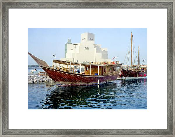 Doha Dhows And Islamic Art Museum Framed Print