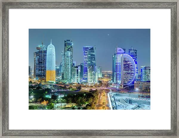 Doha, Qatar Framed Print
