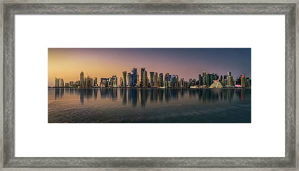 Doha Reflections Framed Print by Antoni Figueras
